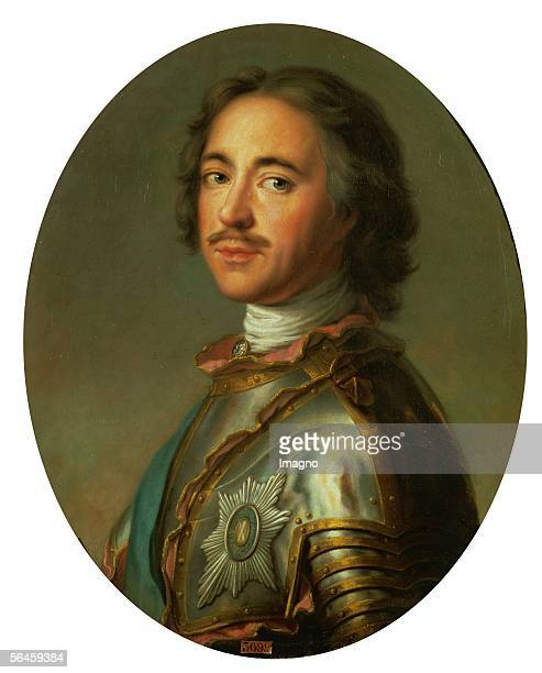 Tsar Peter the Great1717 Canvas 63 x 52 cm By JeanMarc Nattier Musee National du Chateau Versailles France [Zar Peter der Grosse 1717 oel/Lwd 63 x 52...