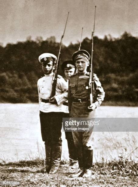 Tsarevich Alexei of Russia aged 12 c1916 Alexei Nikolaevich Romanov was the son of Tsar Nicholas II He was executed along with the rest of the royal...