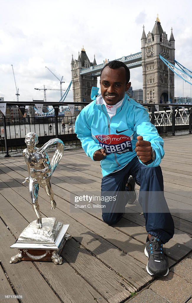 Tsegaye Kebede attends the Virgin London Marathon winners photocall at The Tower Hotel on April 22, 2013 in London, England.