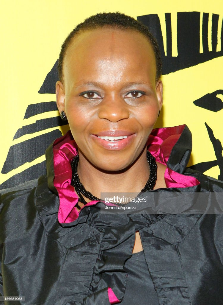 Tshidi Manye attends the 'The Lion King' On Broadway 15th Anniversary Celebration at the Minskoff Theatre on November 18, 2012 in New York City.