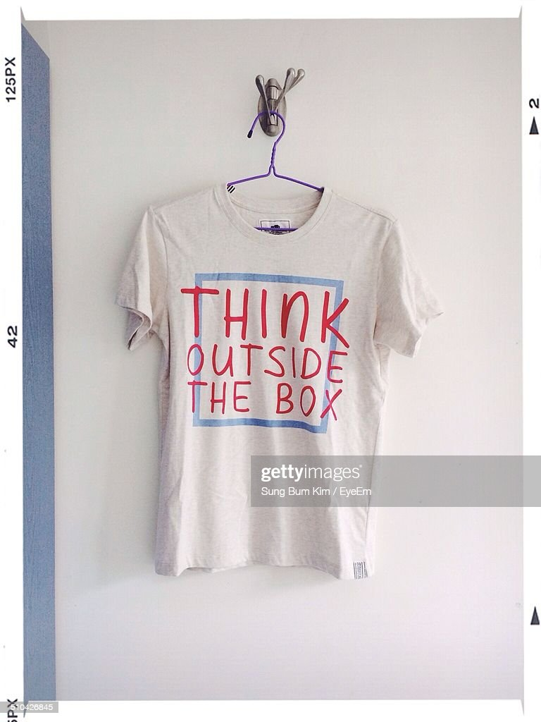 T-shirt on hanger at home