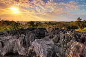 Beautiful view over national park 'Tsingy de Bemaraha' , a UNESCO world heritage site in Madagascar