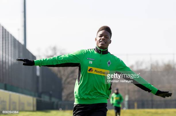 Tsiy William Ndenge of Borussia Moenchengladbach during a Training Session at BorussiaPark on March 22 2017 in Moenchengladbach Germany