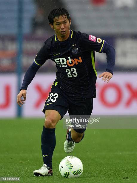 Tsukasa Shiotani of Sanfrecce Hiroshima in action during the FUJI XEROX SUPER CUP 2016 match between Sanfrecce Hiroshima and Gamba Osaka at Nissan...