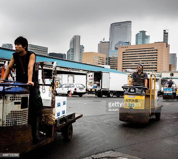 東京の築地市場で日本