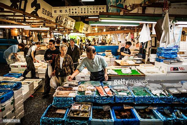 Tsukiji-Fischmarkt in Tokio, Japan