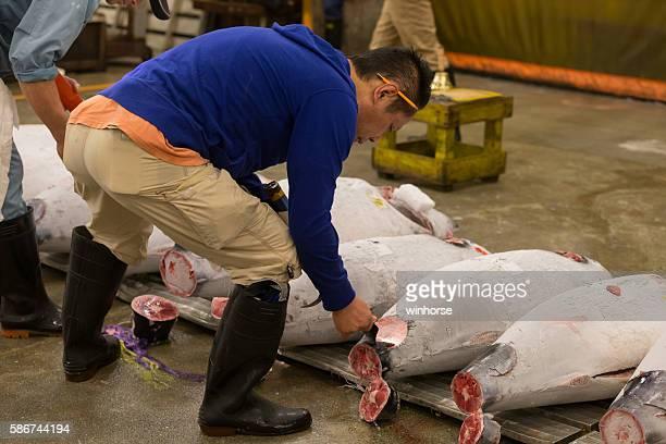 Tsukiji Fish Market in Tokyo, Japan