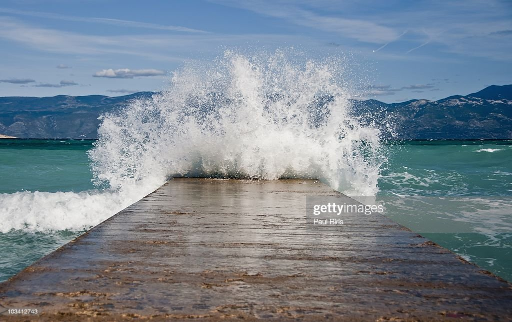 Tsunami on Adriatic Sea    Baska Town