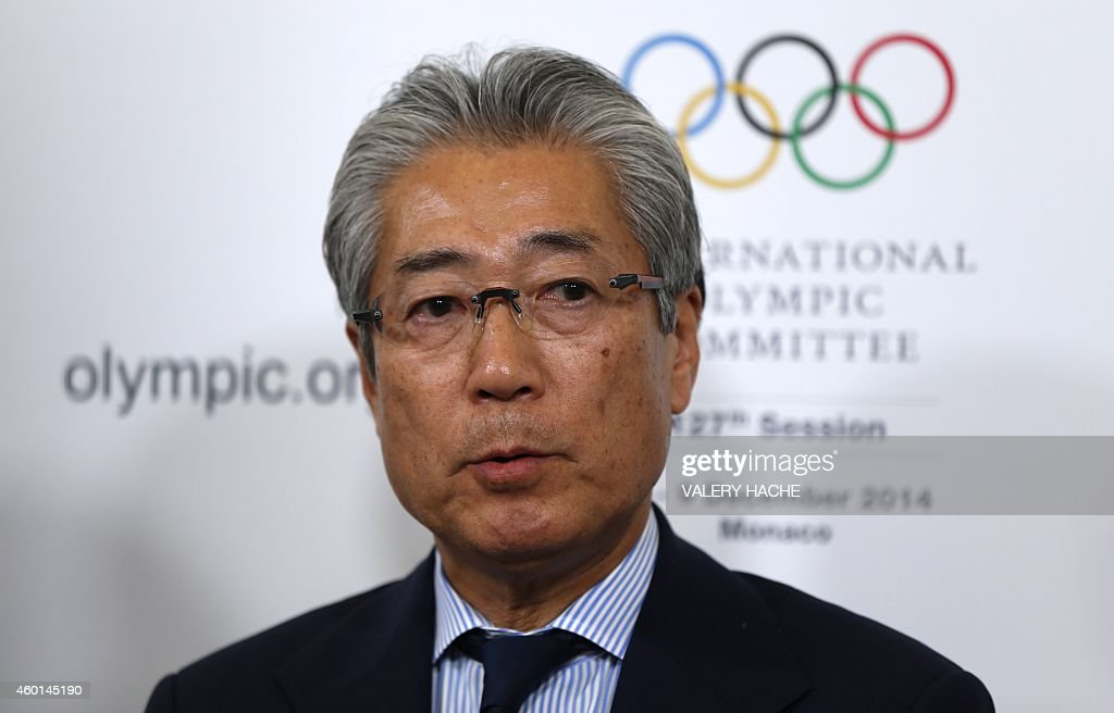 <a gi-track='captionPersonalityLinkClicked' href=/galleries/search?phrase=Tsunekazu+Takeda&family=editorial&specificpeople=2574573 ng-click='$event.stopPropagation()'>Tsunekazu Takeda</a>, president of the Japanese Olympic Committee, speaks during a press conference on December 8, 2014 for the 127th International Olympic Committee (IOC) extraordinary session in Monaco. The IOC on December 8 voted to allow Olympic Games to be hosted by two countries as it started passing sweeping changes to the world's biggest sporting event. Unamimous votes to allow split hosting and reducing the cost of bidding for the summer and winter Olympics started two days of debate on 40 reforms proposed by IOC president Thomas Bach. AFP PHOTO / VALERY HACHE