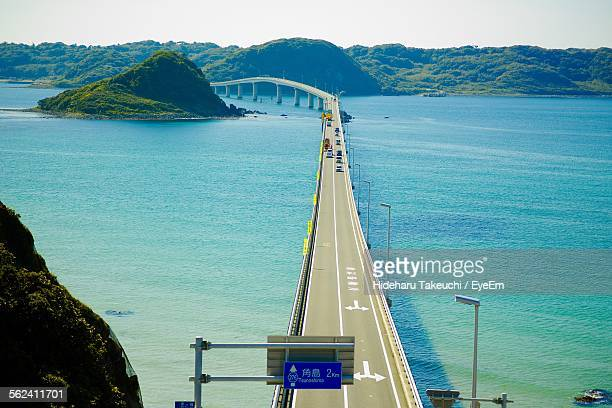 Tsunoshima Ohashi Bridge On Sea