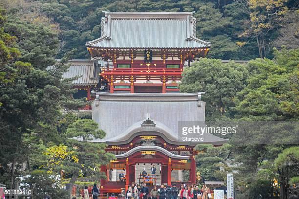 Tsurugaoka Hachimangu shrine in Kamakura, Japan
