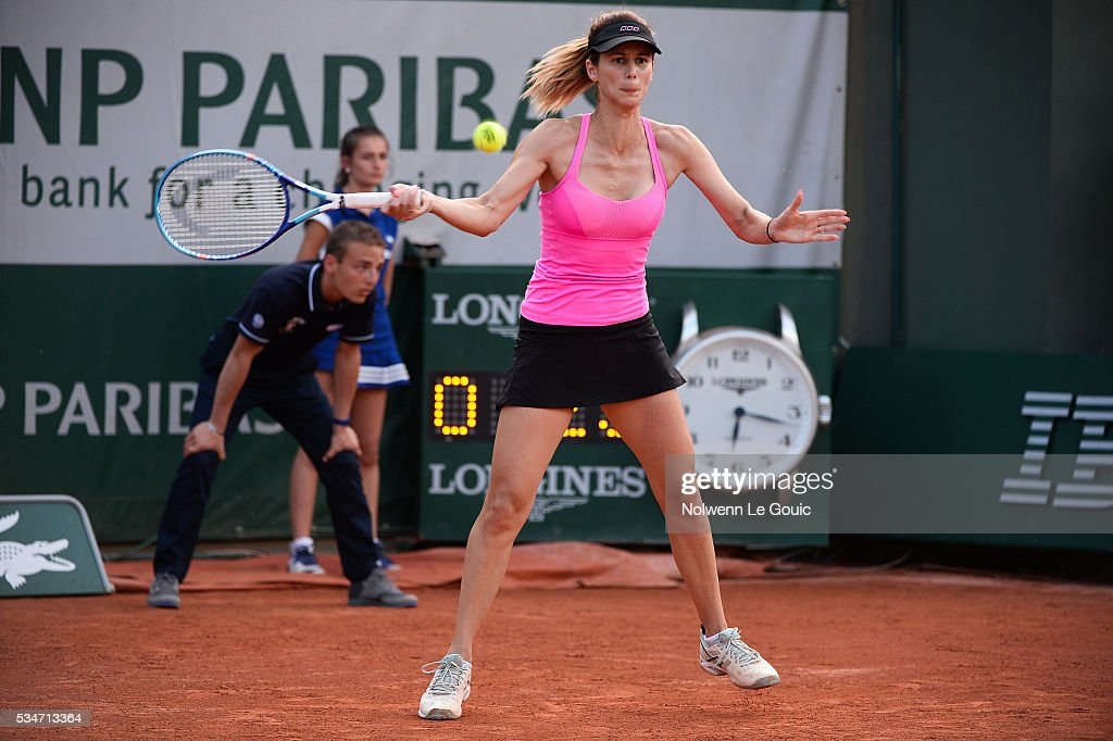 Tsvetana Pironkova during the Women's Singles third round on day six of the French Open 2016 at Roland Garros on May 27, 2016 in Paris, France.
