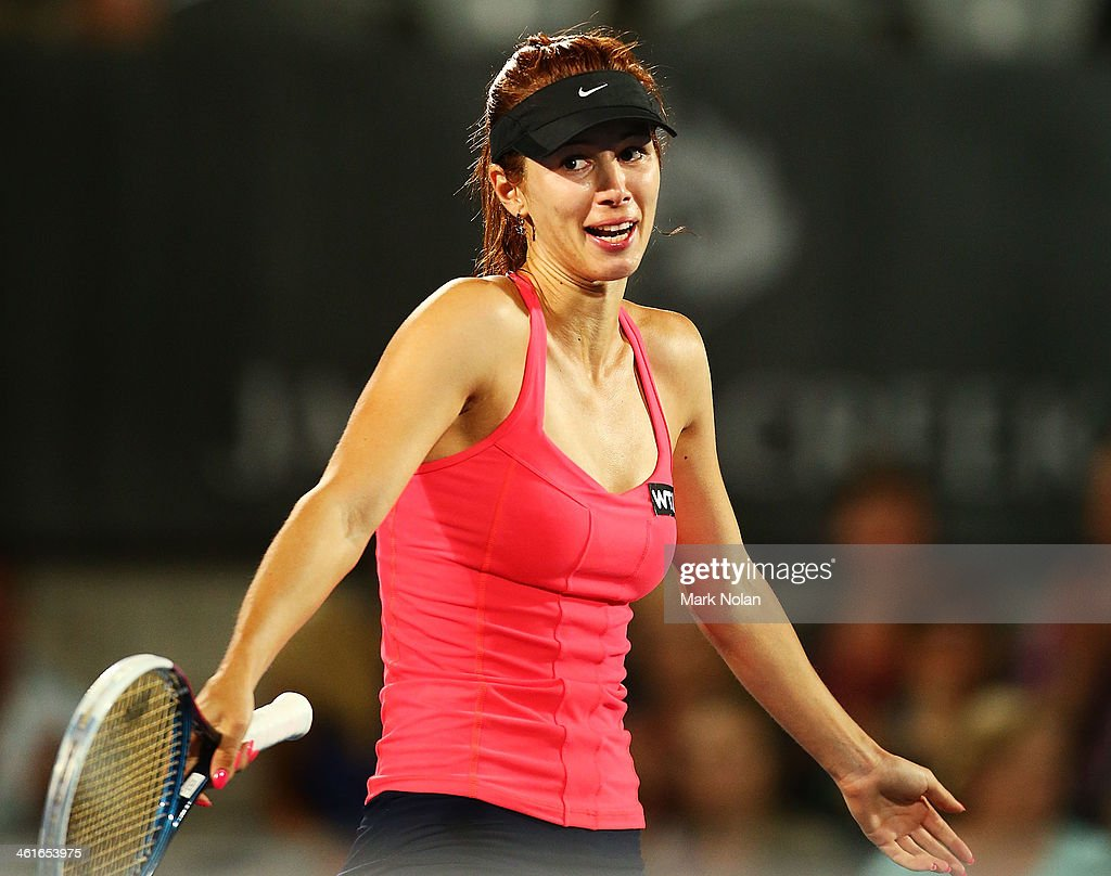 <a gi-track='captionPersonalityLinkClicked' href=/galleries/search?phrase=Tsvetana+Pironkova&family=editorial&specificpeople=600804 ng-click='$event.stopPropagation()'>Tsvetana Pironkova</a> of Bulgaria celebrates winning the championship point in the Womens Singles Final match against Angelique Kerber of Germany during day six of the Sydney International at Sydney Olympic Park Tennis Centre on January 10, 2014 in Sydney, Australia.