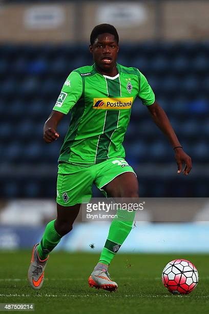 Tsy William Ndenge of Borussia Monchengladbach II in action during the Premier League International Cup match between Borussia Monchengladbach II and...
