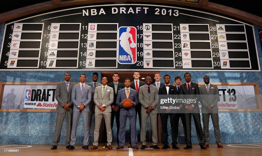 Tthe 2013 NBA Draft Class including Nerlens Noel of Kentucky Victor Oladipo of Indiana Otto Porter of Georgetown Alex Len of Maryland Ben McLemore of...