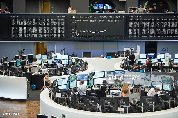 Tthe day's performance graph shows a sharp drop of the German DAX stock market index early today and a partial recovery later on the day after the...