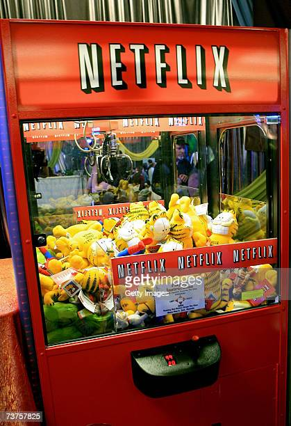 Tthe Netflix claw machine in the Distinctive Assets gift lounge during the 20th annual Kid's Choice Awards at Pauley Pavilion on March 31 2007 in Los...