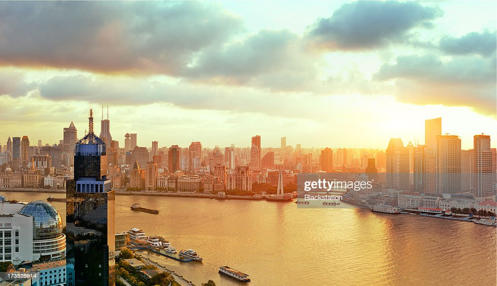 Tthe warm city : Stock Photo