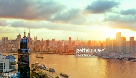 Tthe warm city : Stock Photo