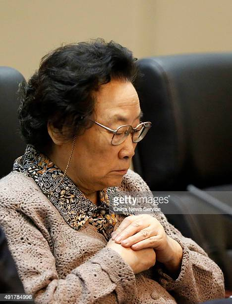 Tu Youyou attends the colloquium of congratulation for her winning the 2015 Nobel Prize in Physiology or Medicine on October 8 2015 in Beijing China...