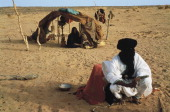 Tuareg camp in Tilemsi valley Mali
