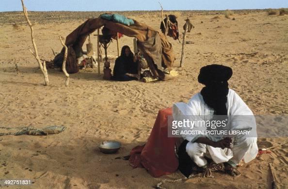 Tuareg camp in Tilemsi valley Mali