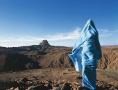Tuareg person Hoggar Mountains Sahara desert Algeria