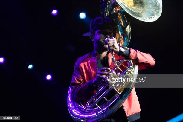 Tuba Gooding Jr performed with The Roots at the MGM National Harbor in Oxon Hill MD on Sunday August 13 2017