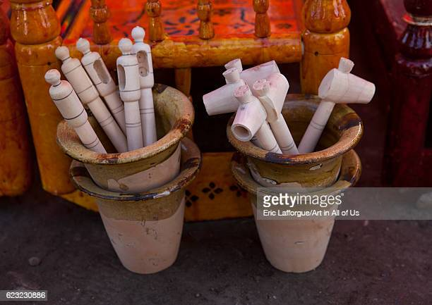 Tube used to drain the urine of babies while in crib Serik Buya market Yarkand Xinjiang Uyghur Autonomous Region China on September 20 2012 in...