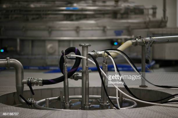 Tubes and pipes connect sections of yeast extract drying machinery at the Royal DSM NV site n Delft Netherlands on Monday Jan 20 2014 DSM fell the...