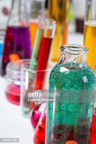 Tubos en el laboratorio : Foto de stock