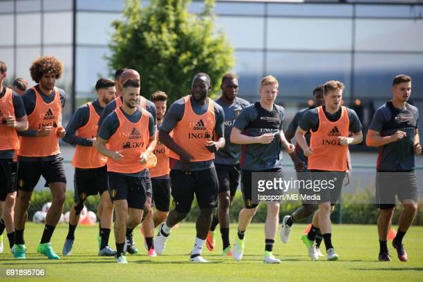 20170602 Tubize Belgium / Training Belgium / Kevin MIRALLAS Romelu LUKAKU Kevin DE BRUYNE / Picture Vincent Van Doornick / Isosport