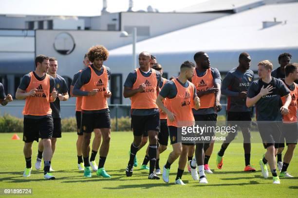 20170602 Tubize Belgium / Training Belgium / Marouane FELLAINI Vincent KOMPANY / Picture Vincent Van Doornick / Isosport