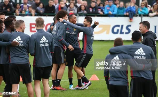 20171002 Tubize Belgium / Training Red Devils /'nAxel WITSEL Youri TIELEMANS Kevin MIRALLAS'nPicture Vincent Van Doornick / Isosport