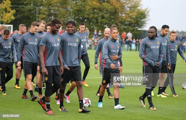 20171002 Tubize Belgium / Training Red Devils /'nDivock ORIGI Dedryck BOYATA Youri TIELEMANS'nPicture Vincent Van Doornick / Isosport
