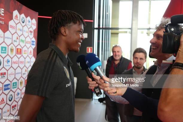 20171002 Tubize Belgium / Training Red Devils /'nPress conference Dedryck BOYATA'nPicture Vincent Van Doornick / Isosport