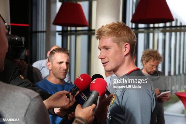 20171002 Tubize Belgium / Training Red Devils /'nPress conference Kevin DE BRUYNE'nPicture Vincent Van Doornick / Isosport
