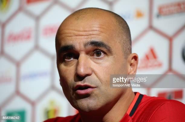 20171002 Tubize Belgium / Training Red Devils /'nPress conference Roberto MARTINEZ'nPicture Vincent Van Doornick / Isosport