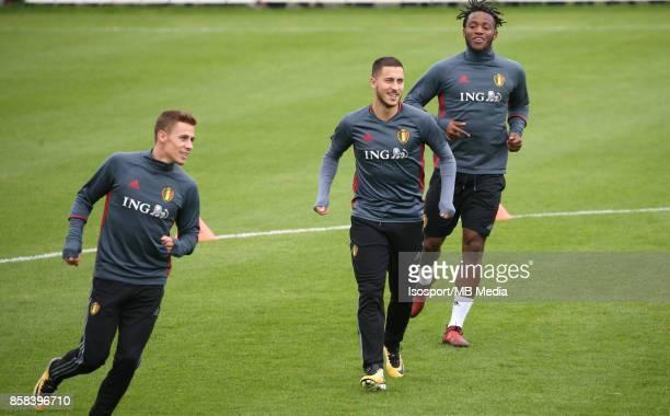 20171002 Tubize Belgium / Training Red Devils /'nThorgan HAZARD Eden HAZARD Michy BATSHUAYI'nPicture Vincent Van Doornick / Isosport