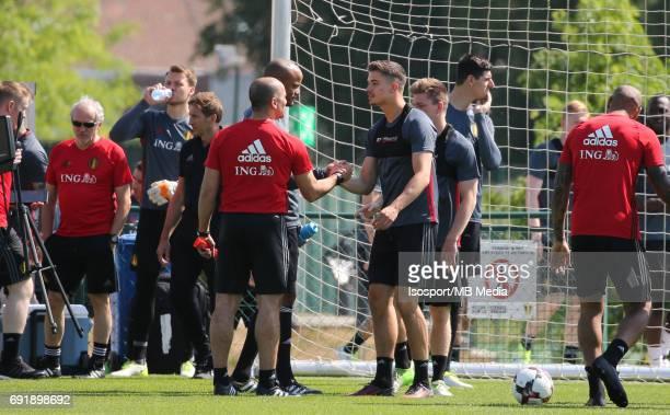 20170602 Tubize Belgium / Training Red Devils / Roberto MARTINEZ Leander DENDONCKER / Picture Vincent Van Doornick / Isosport