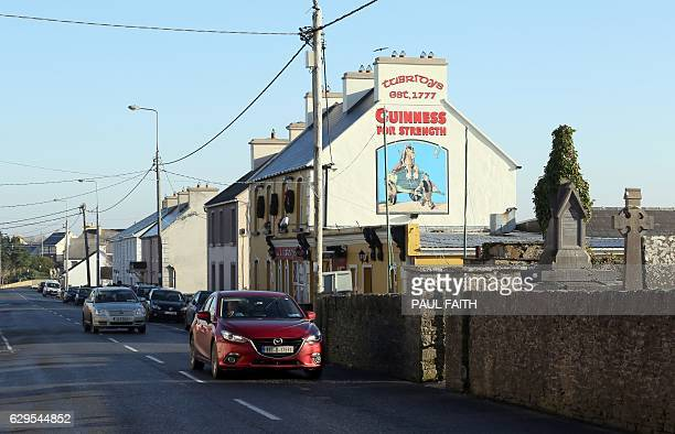 Tubridy's pub is pictured in Doonbeg on the west coast of Ireland on December 2 2016 US Presidentelect Donald Trump owns the Trump International Golf...