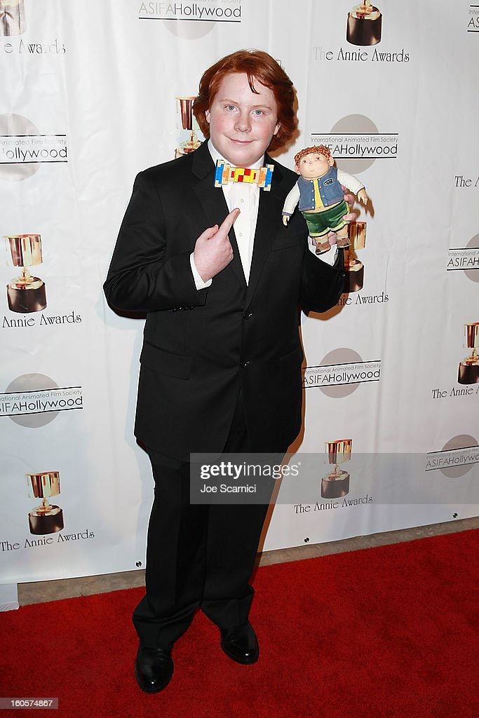 Tucker Albrizzi arrives at the 40th Annual Annie Awards at Royce Hall on the UCLA Campus on February 2 2013 in Westwood California