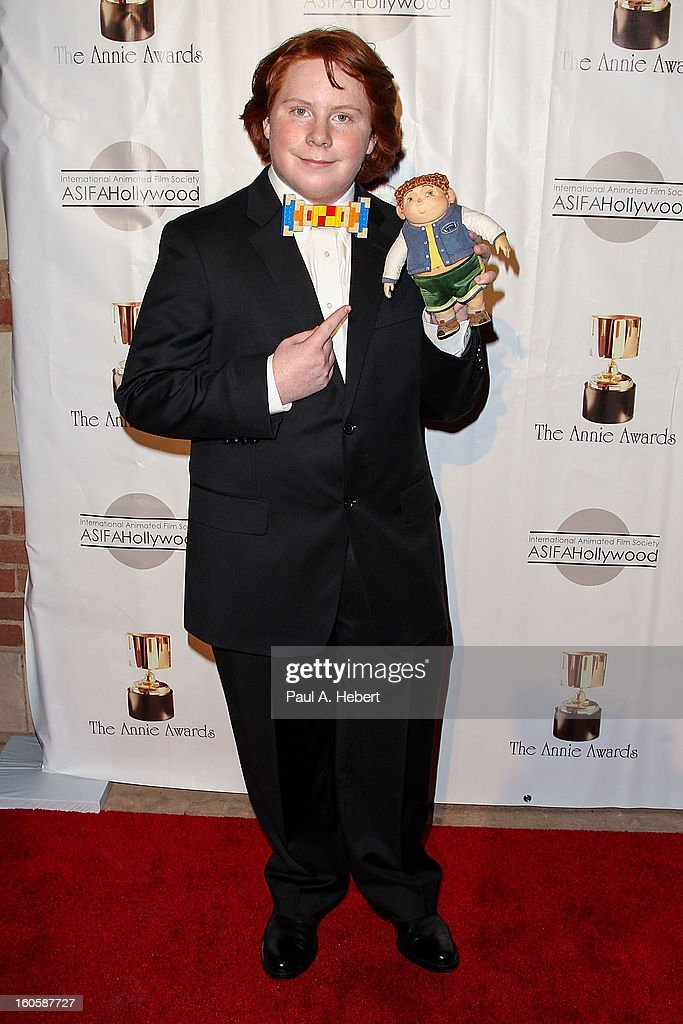 Tucker Albrizzi arrives at the 40th Annual Annie Awards held at Royce Hall on the UCLA Campus on February 2, 2013 in Westwood, California.