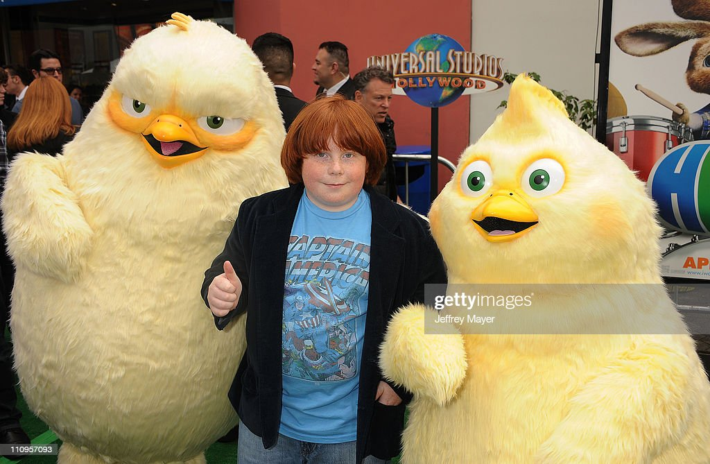 Tucker Albrizzi arrives at the Los Angeles premiere of 'Hop' at Universal Studios Hollywood on March 27 2011 in Universal City California