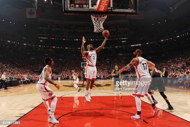 Tucker grabs the rebound against the Milwaukee Bucks in Game Five of the Eastern Conference Quarterfinals during the 2017 NBA Playoffs on April 24...