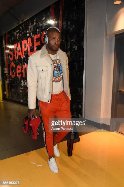 Tucker of the Houston Rockets arrives at the arena before the game against the Los Angeles Lakers on December 3 2017 at STAPLES Center in Los Angeles...