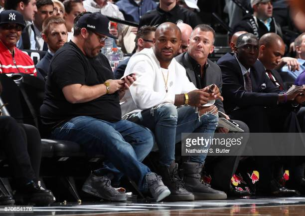 J Tucker of the Houston Rockets is seen during the game between Phoenix Suns and Brooklyn Nets on October 31 2017 at Barclays Center in Brooklyn New...