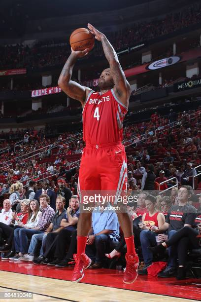 Tucker of the Houston Rockets shoots the ball against the Dallas Mavericks on October 21 2017 at the Toyota Center in Houston Texas NOTE TO USER User...