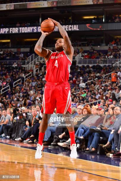 Tucker of the Houston Rockets shoots the ball against the Phoenix Suns on November 16 2017 at Talking Stick Resort Arena in Phoenix Arizona NOTE TO...
