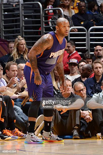 Tucker of the Phoenix Suns during the game against the Los Angeles Lakers at STAPLES Center on November 04 2014 in Los Angeles California NOTE TO...